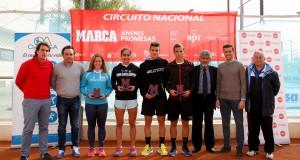 Alejandro Moro y Marina Benito, campeones del Marca Jóvenes Promesas jugado en el Arena Open