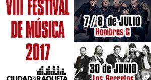 Hombres G y Los Secretos, en el cartel del VIII Festival de Música de Ciudad de la Raqueta