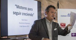 Kokí Martí abrió 'El Día de las Empresas' de Ciudad de la Raqueta abogando por la gestión con valores para crecer