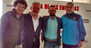 La imagen del miércoles: Jofré, Burrieza, Villuendas y Campos debaten sobre la gestión de clubes de tenis en el foro de la FTM