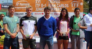 Alejandro Davidovich y 'Olga Danilovic, campeones del Trofeo Juan Carlos Ferrero de la Equelite JC Ferrero