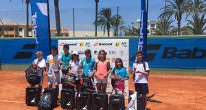 Markus Giersiepen, Naroa Aranzábal, Lucía Llinares y Carlos Alcaraz, campeones del Master de la Babolat Cup